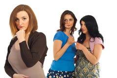 Envious women gossip royalty free stock images