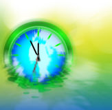 Enviromental Clock Stock Image