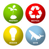 Enviromental Icons Royalty Free Stock Image