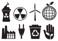 Enviromental icons Stock Images