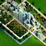 Enviromental new sustainable city winter concept Stock Photography