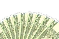 Environ 100 billets de banque éthiopiens de birr avec le copyspace illustrant l'économie et l'investissement croissants