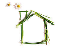 environemtally φιλικό σπίτι Διανυσματική απεικόνιση