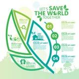 environment Позвольте спасению ` s мир совместно иллюстрация штока