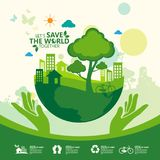 environment Позвольте спасению ` s мир совместно иллюстрация вектора