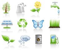Environment. (ecology,alternative energy) icon set Stock Photography