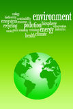 Environment. Caring about a green and clean environment Royalty Free Stock Images