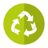 Environment arrow aroung recycle ecology symbol shadow Royalty Free Stock Photos