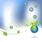 Environment background with globe icon Royalty Free Stock Photo