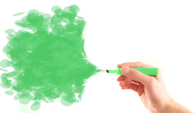 Environment background green marker spray Stock Image