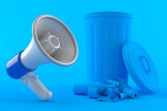 Environment background with megaphone Royalty Free Stock Images