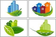 Environment building logos Stock Image