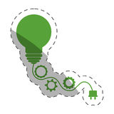 Environment bulb gears plug. Illustration eps 10 Stock Images