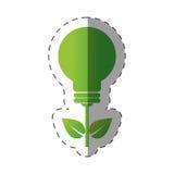 Environment bulb leave light design. Illustration eps 10 Stock Photo