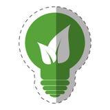 Environment bulb leave light. Illustration eps 10 Royalty Free Stock Images