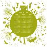 2014 environment calendar Stock Photo