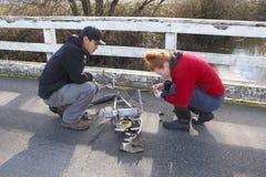 Environment Canada Technicians Royalty Free Stock Photography