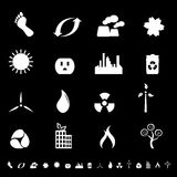 Environment and clean energy icons. Clean environment and energy icons and symbols Stock Image