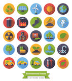 Environment and Climate flat design icons set Royalty Free Stock Photo
