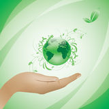 Environment concept green background Royalty Free Stock Photo