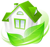Environment concept with house Royalty Free Stock Photography