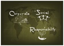 Environment Conservation with Corporate Social Responsibility Concepts Stock Photo