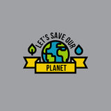Environment day green concept with globe, leaf and drop Royalty Free Stock Photos