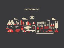 Environment design flat concept Stock Photography