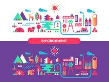 Environment design flat concept Stock Photography