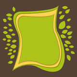Green banner paper cut Stock Photo