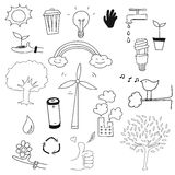 Environment doodle set vector Stock Images