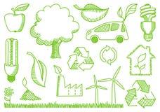 Environment doodles icons Stock Photos