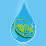 Environment drop water Royalty Free Stock Photography