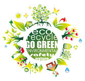 Environment and Eco Background for Green Flyers Stock Photo