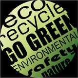 Environment and Eco Background for Green Flyers Royalty Free Stock Images