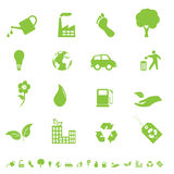 Environment and eco icons Royalty Free Stock Images