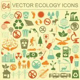 Environment, ecology icon set. Environmental risks, ecosystem Royalty Free Stock Image