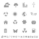 Environment and Ecology Icons Royalty Free Stock Photo