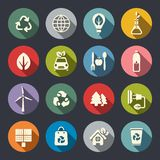 Environment and ecology Icons. Flat Stock Photos