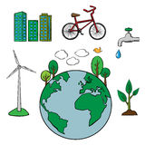 Environment and ecology icons set Stock Photo