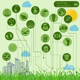 Environment, ecology infographic elements. Environmental risks, Royalty Free Illustration