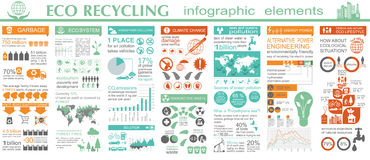 Environment, ecology infographic elements. Environmental risks, Stock Photography