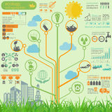Environment, ecology infographic elements. Environmental risks, Stock Image