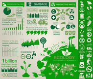 Environment, ecology infographic elements. Environmental risks, Royalty Free Stock Photo