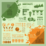Environment, ecology infographic elements. Environmental risks, Stock Photos