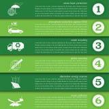 Environment, ecology infographic elements. Environmental risks,. Ecosystem. Template. Vector illustration Stock Photos