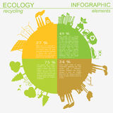 Environment, ecology infographic elements. Environmental risks, vector illustration