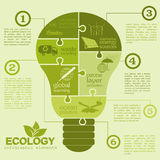 Environment, ecology infographic elements. Environmental risks, Royalty Free Stock Image