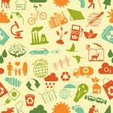 Environment, ecology seamless, pattern. Environmental background Royalty Free Stock Images
