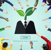 Environment Ecology Symbol Start Plant Concept Stock Images